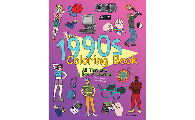 1990's Colouring Book - A perfect birthday gift for 90s kid