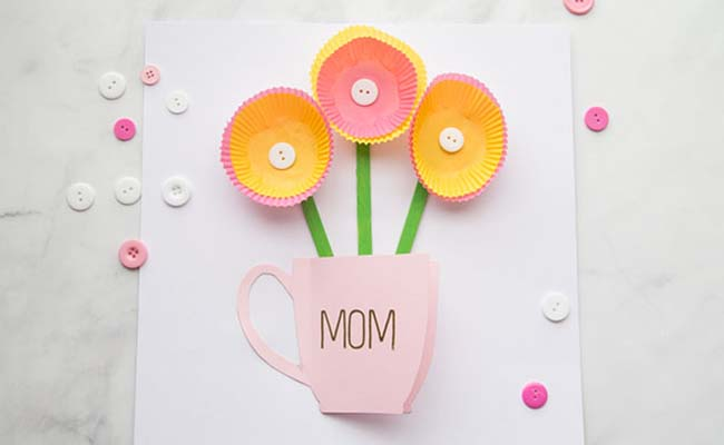 Handmade Greeting Card for Mothers Day