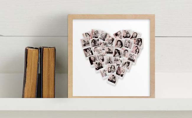 Heart Snapshot Wall Frame for Mothers Day