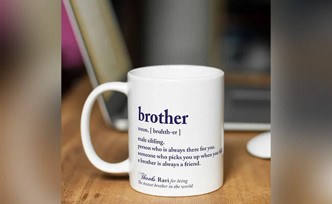 Personalised coffee mug