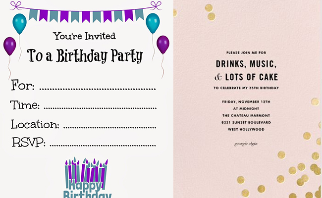 Plan invitation for birthday party