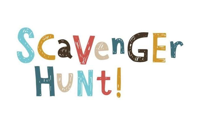 Scavenger hunt on Birthday party