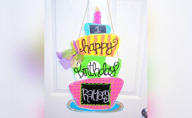 Birthday Cake Door Decor