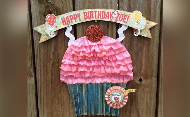 Cupcake Door Decor