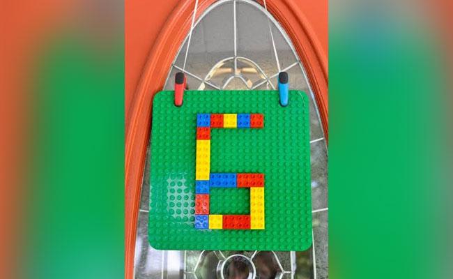 Lego Door Decor