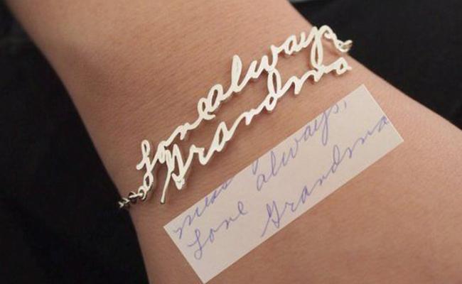 Actual Handwriting Bracelet