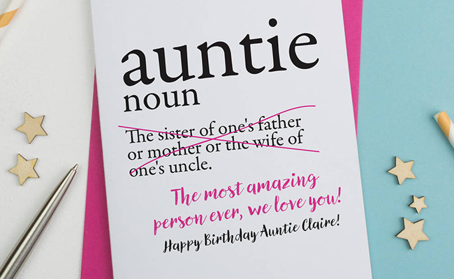Greeting Card for Aunt