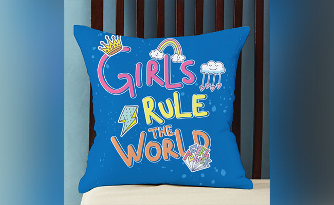 Girl Power Customized Pillow