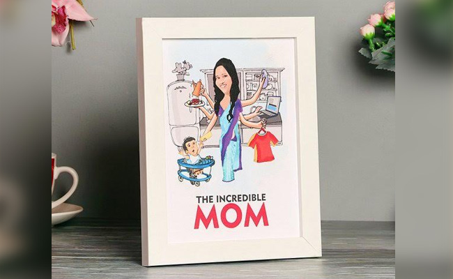 The Incredible Mom Caricature Frame