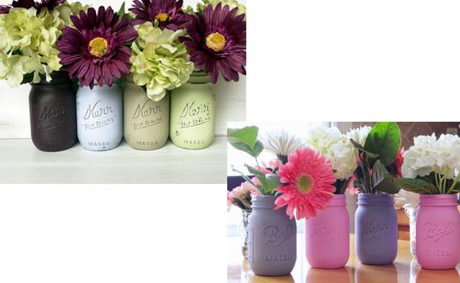 Mason Jar Flower Bouquets