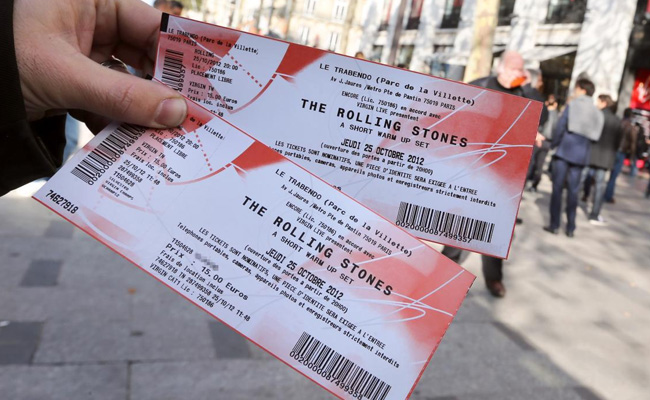 Tickets To Some Live Concert