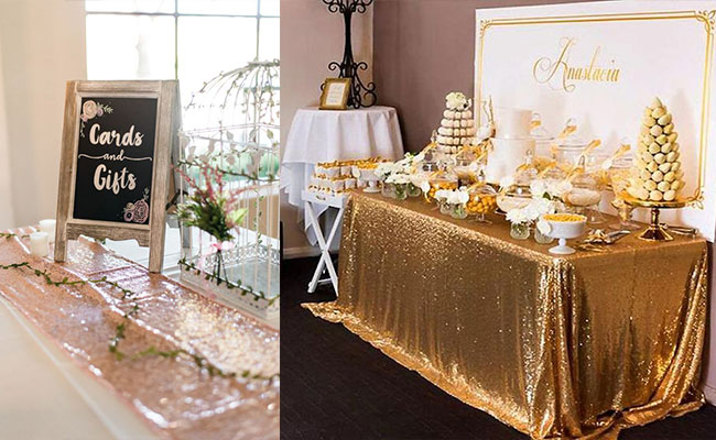 Glittery Golden Decor
