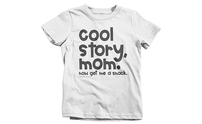A quirky T-shirt