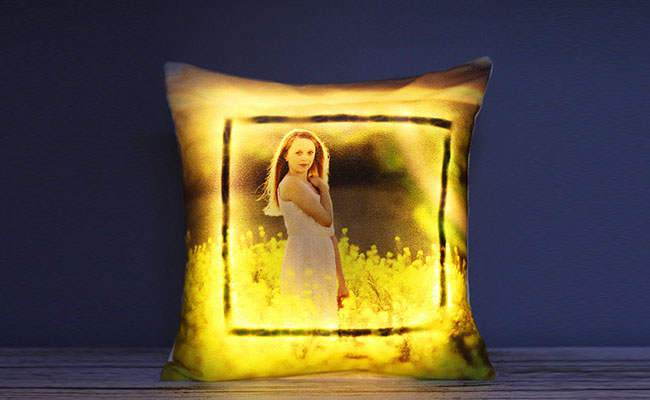 LED Personalised Cushion