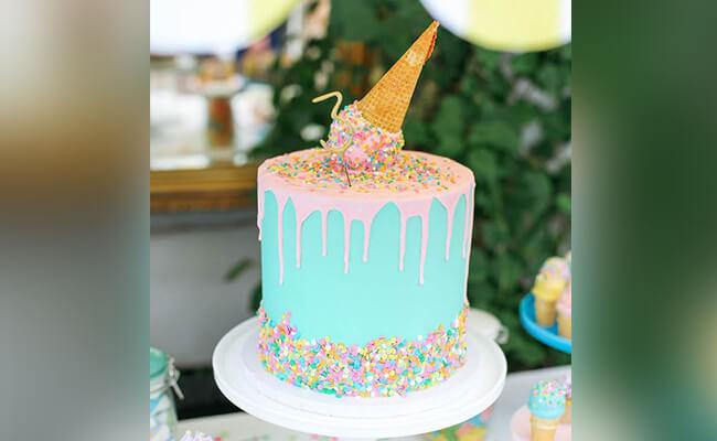 Ice cream inspired birthday cake
