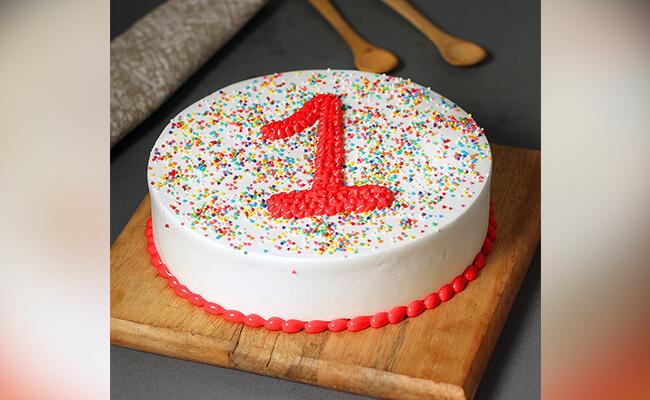 Joyous First Funfetti Cake