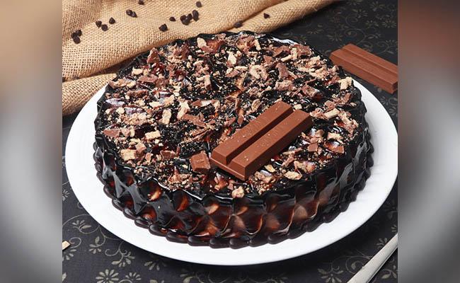 Silky Smooth Kitkat Birthday Cake For Boys