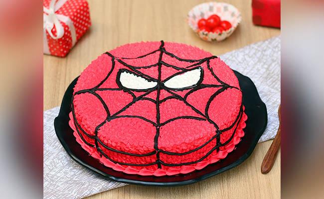 Web-Slinger Birthday Cake For Boys