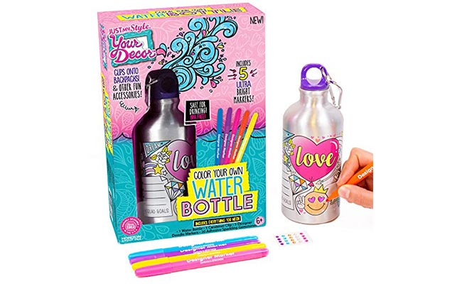 Colour Your WaterBottle Kit for 10 Year Old Girl