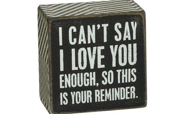 I Love You Reminder Block