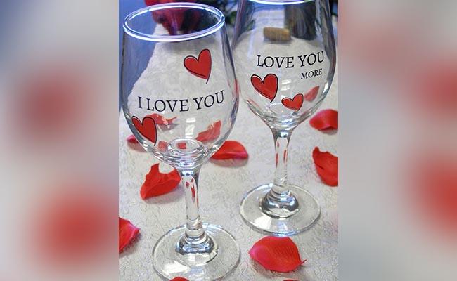 I Love You Wine Glasses