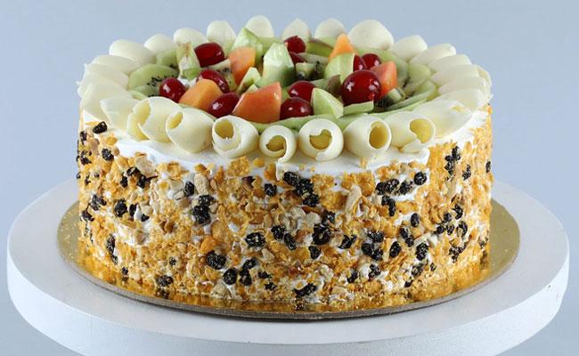 Fruit Overloaded Birthday Cake