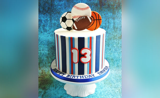 Favourite Sports Birthday Cake