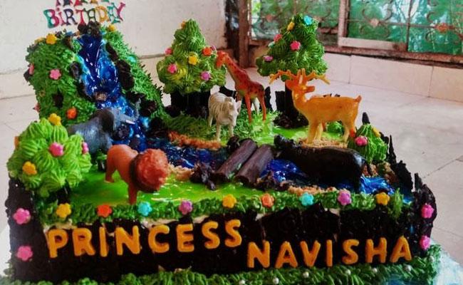 ungle-themed cake