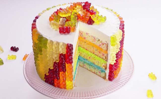 Cute Gummy Bear Cake