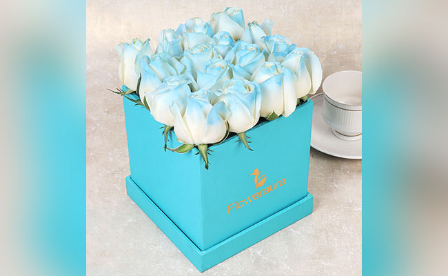 Ice Blue Rose Box