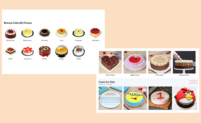 Endless cake Variety