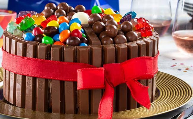 Chocolate or Candies Cake