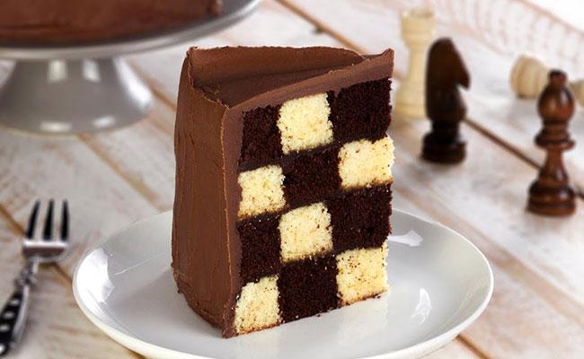 Chess Board Cake recipe