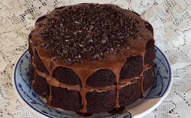 No-Bake Choco Oreo Cake