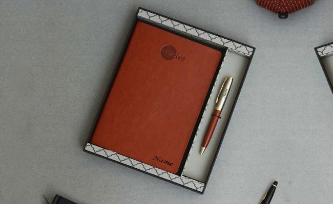 Customised Diary Pen Executive Set