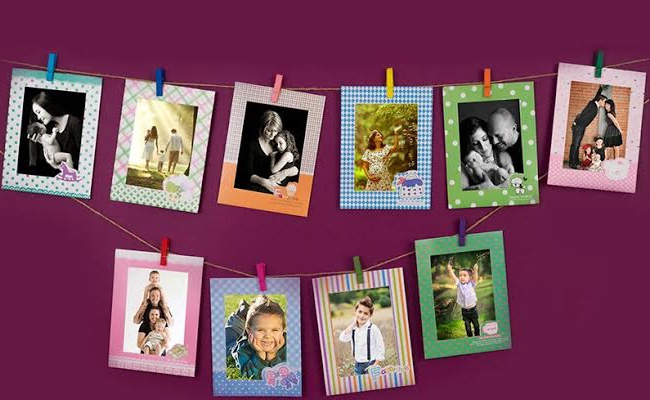 Set of cardboard photo frame for husband