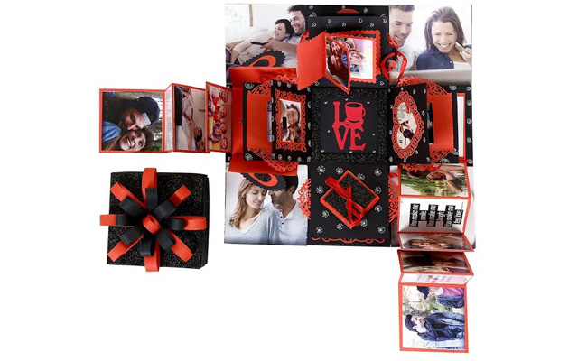 Creative explosion box for husband