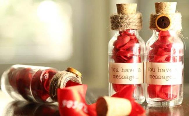 Secret Message Bottles for husband