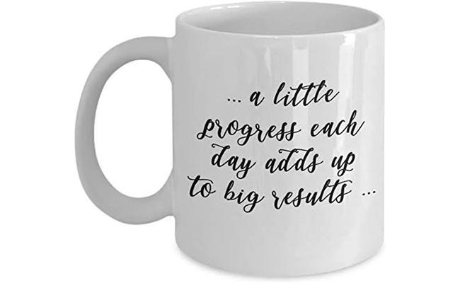 Motivational mug for sister