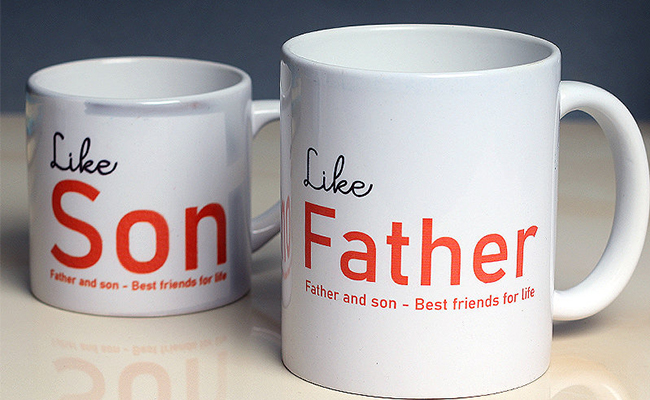 Customised mugs