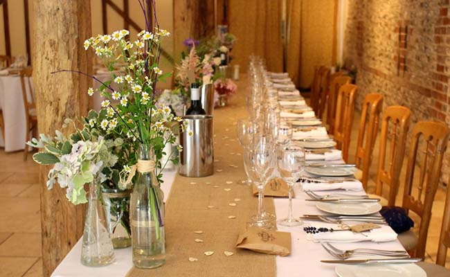 Decorate the table with vases