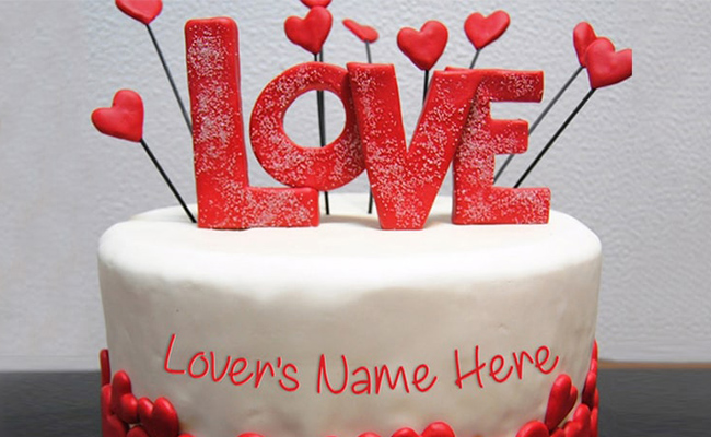 Heart-shaped Red-velvet cake