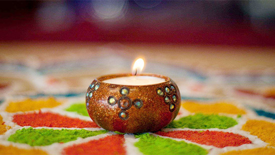 Colourful Candles for Diwali Home Decoration