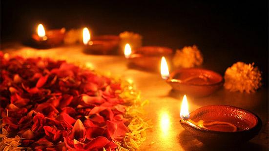 Diwali Home Decoration with Diyas