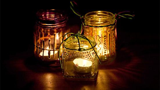 Glass Jar Lanterns - A Hanging Diwali Decorative Item