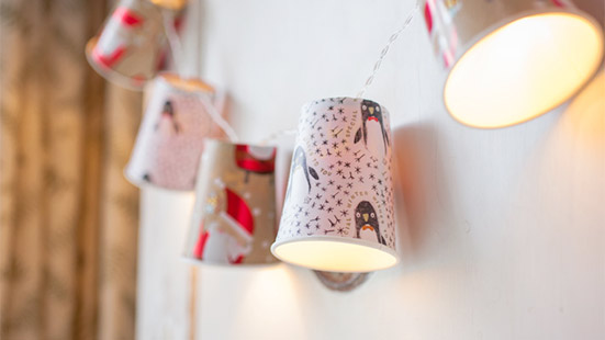 Paper Cup Lights - A Wall Hanging Item for Diwali Home Decoration