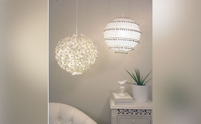 Floral & Beads Lamp