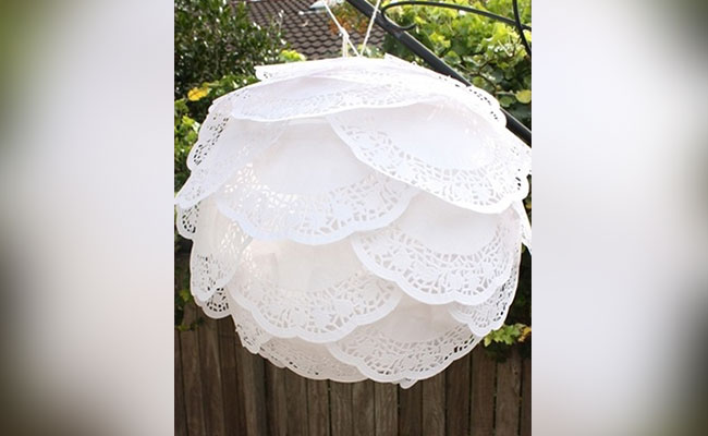 Paper Doily Lamp