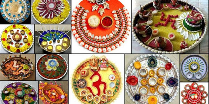 Diwali Pooja Thali Decoration Ideas