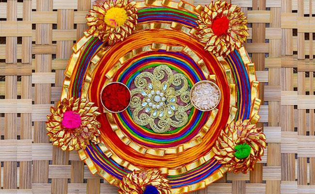 Gotta Patti Pooja Thali Decoration